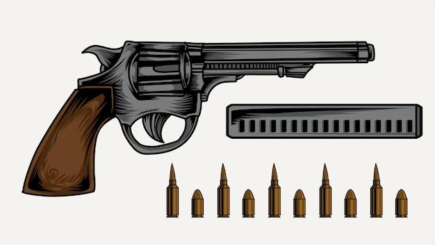 Ilustracja Pistoletu Premium Wektorów