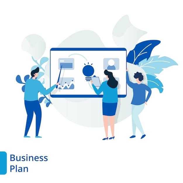 Ilustracja Planu Biznesowego Strony Docelowej Premium Wektorów