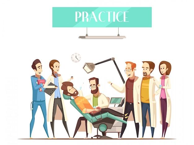 Ilustracja praktyki dentysty Darmowych Wektorów