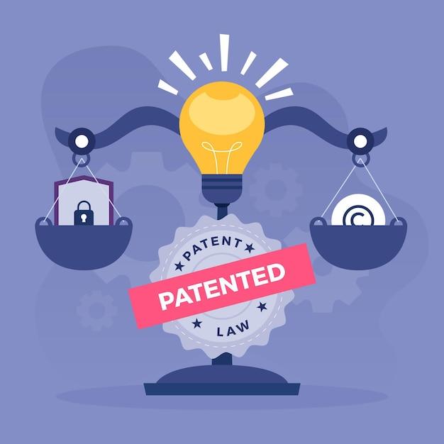 Ilustracja Prawa Patentowego Autorskiego Premium Wektorów