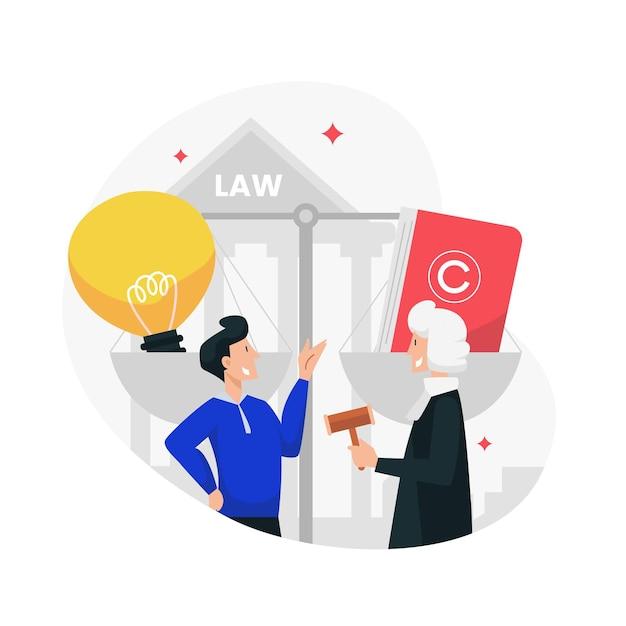 Ilustracja Prawa Patentowego Premium Wektorów
