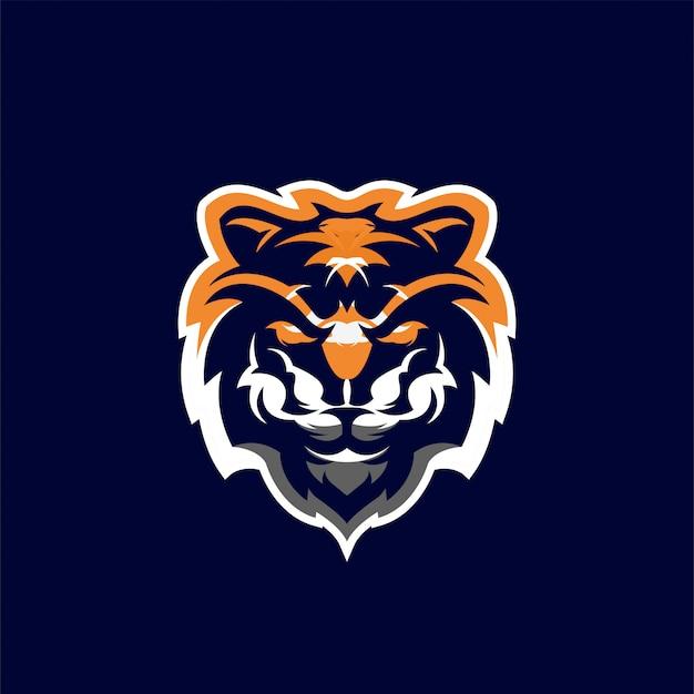 Ilustracja Projekt Logo Głowa Tygrysa Premium Wektorów