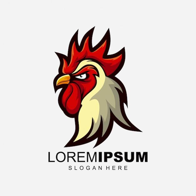 Ilustracja Projekt Logo Koguta Premium Wektorów