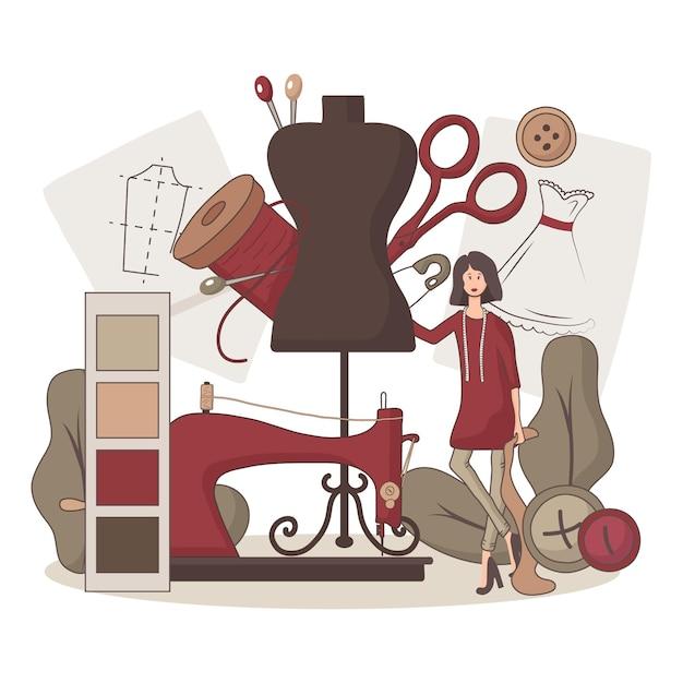 Ilustracja Projektanta Mody Płaskiej Darmowych Wektorów