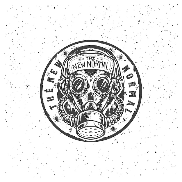 Ilustracja Ręcznie Rysowane Pandemii Maski Gazowej Premium Wektorów