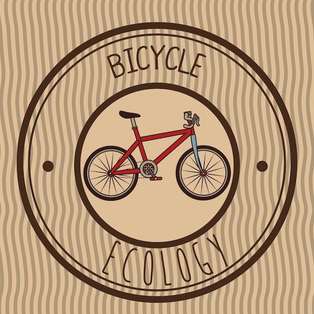 Ilustracja retro emblemata bicykl Darmowych Wektorów