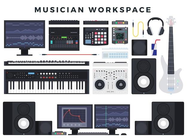 Ilustracja Roboczy Muzyk Premium Wektorów
