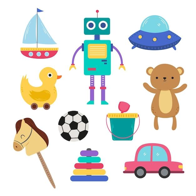 Ilustracja Różnego Rodzaju Boże Narodzenie Zabawki Darmowych Wektorów