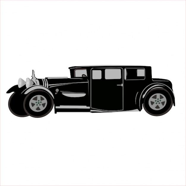 Ilustracja Samochód Klasyczny Retro Vintage Premium Wektorów