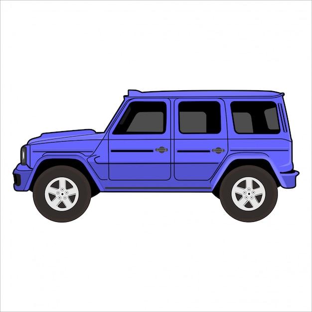 Ilustracja Samochodu Przygodowego Premium Wektorów