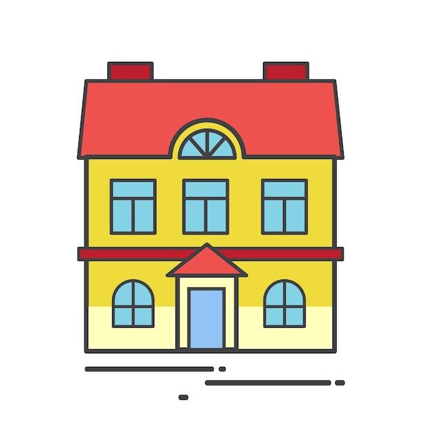 Ilustracja śliczny dom Darmowych Wektorów
