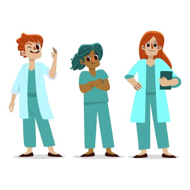 Ilustracja Smiley Zespołu Zdrowia Zawodowego Darmowych Wektorów