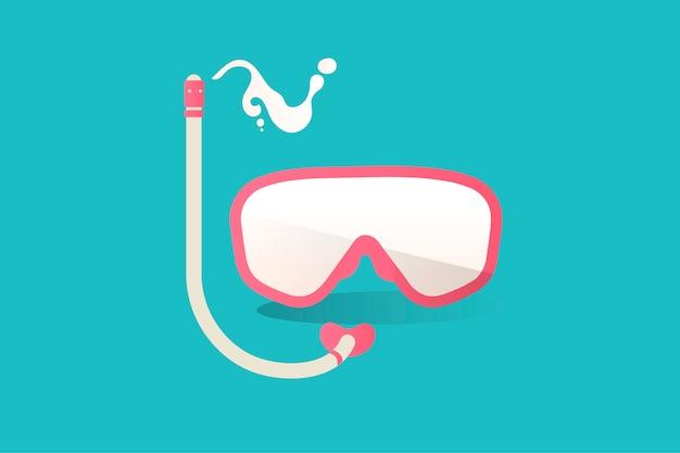 Ilustracja Snorkel Ikona Na Błękitnym Tle Darmowych Wektorów