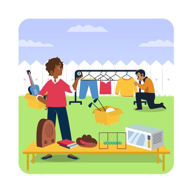 Ilustracja Sprzedaży Garażu Darmowych Wektorów