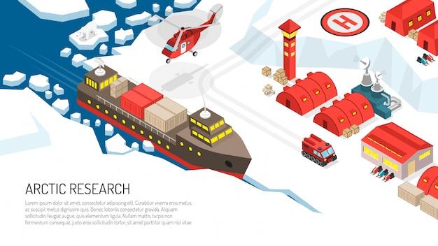 Ilustracja Stacji Polarnej Badań Arktycznych Darmowych Wektorów