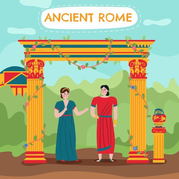 Ilustracja Starożytnego Imperium Rzymu Darmowych Wektorów