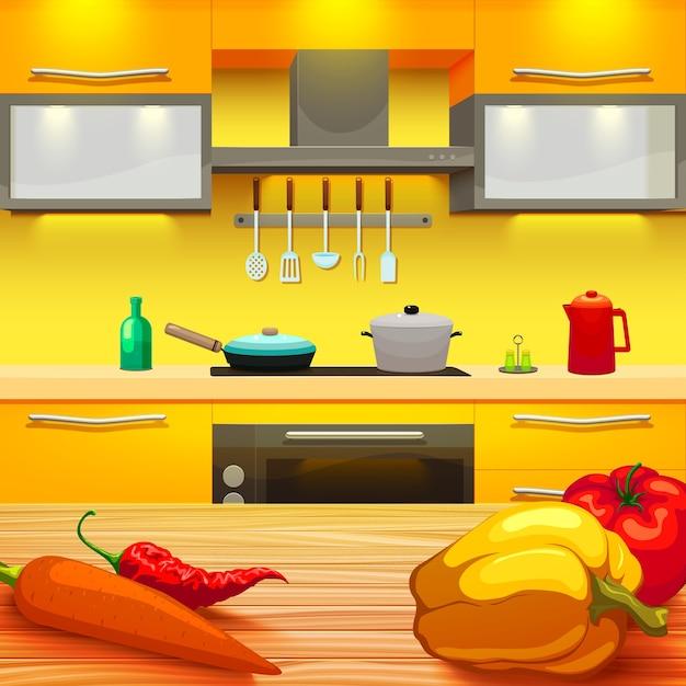 Ilustracja Stół Kuchenny Darmowych Wektorów