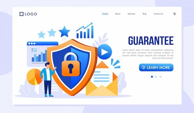 Ilustracja strony internetowej gwarancji strony docelowej Premium Wektorów
