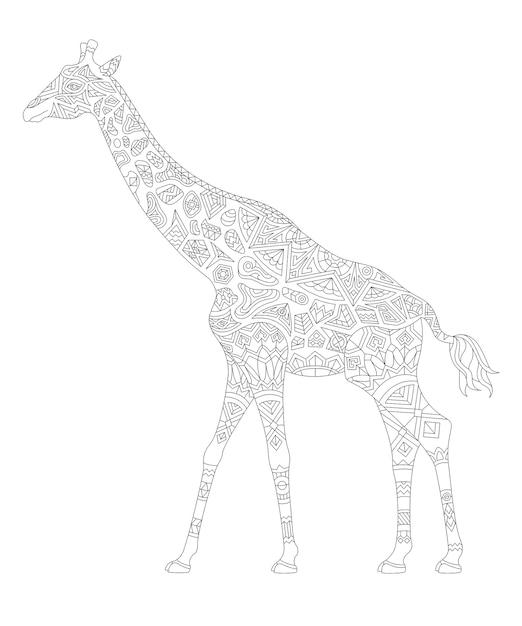 Ilustracja Strony Kolorowanki Zwierząt Dorosłych Darmowych Wektorów