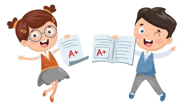 Ilustracja Studenta Premium Wektorów