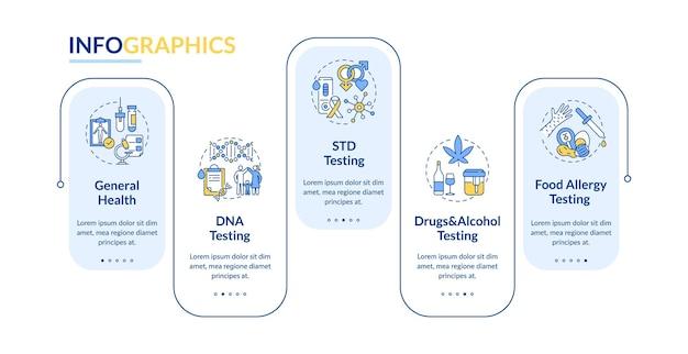 Ilustracja Szablonu Infografiki Testów Diagnostycznych Premium Wektorów