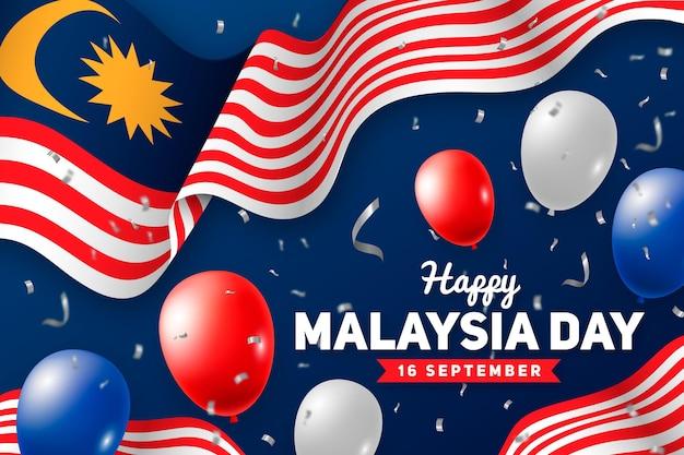 Ilustracja Szczęśliwy Dzień Malezji Premium Wektorów