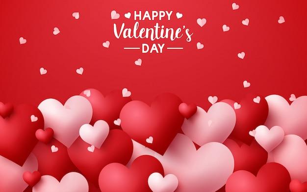Ilustracja Szczęśliwych Walentynek Premium Wektorów
