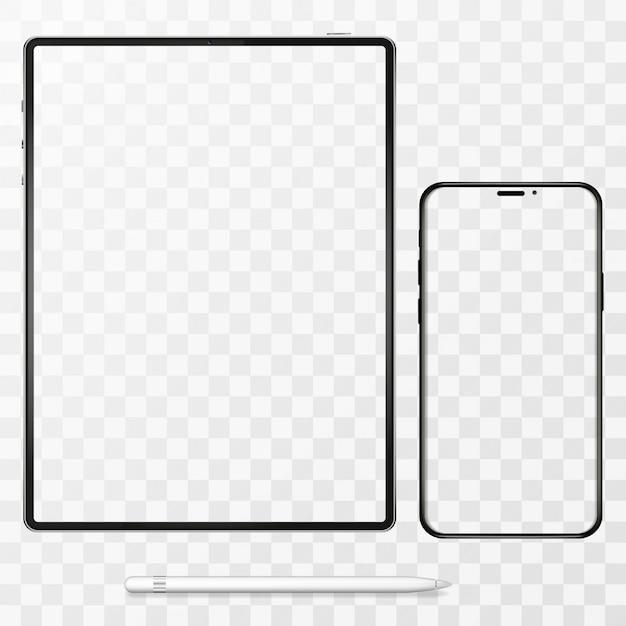 Ilustracja Telefonu Komórkowego I Komputera Typu Tablet Premium Wektorów