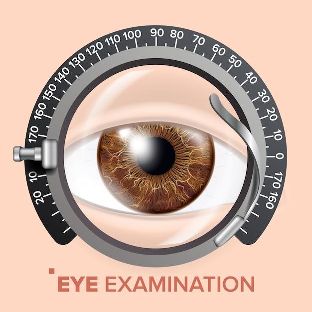 Ilustracja testu wzroku Premium Wektorów
