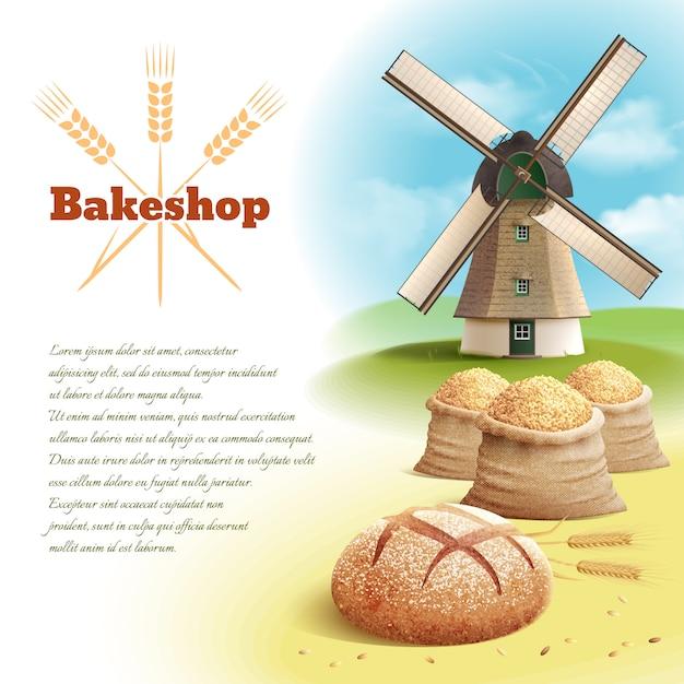 Ilustracja tło chleb Darmowych Wektorów