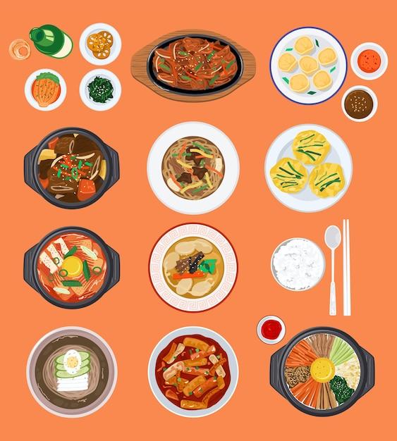 Ilustracja Tło żywności Premium Wektorów