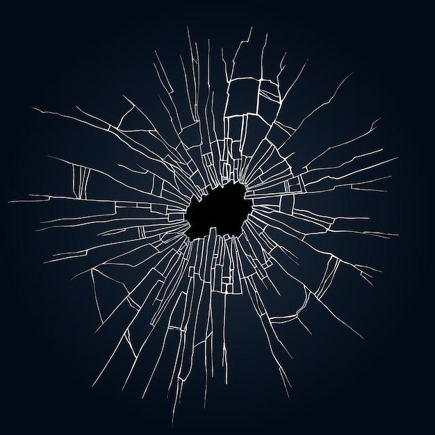 Ilustracja Tłuczonego Szkła Premium Wektorów