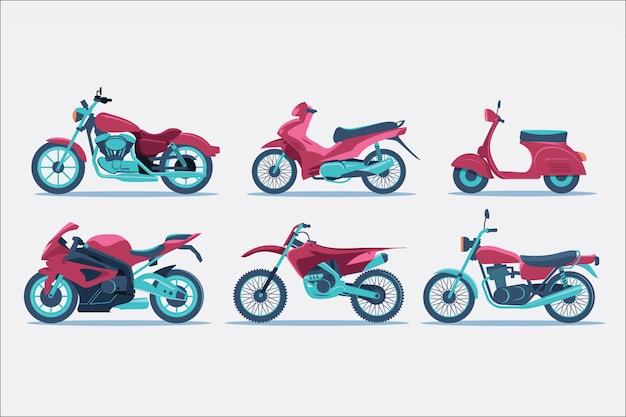 Ilustracja Typu Motocykla Premium Wektorów