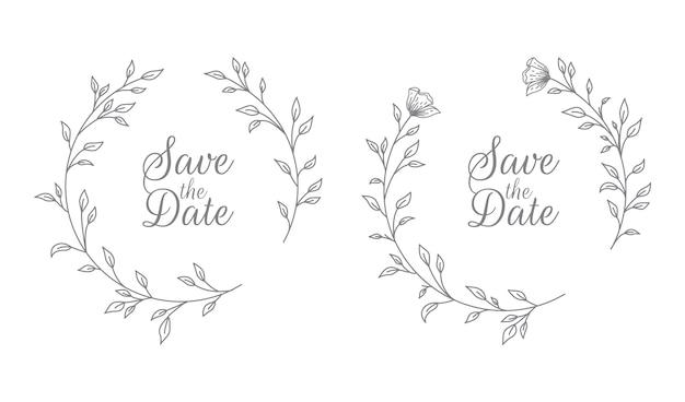 Ilustracja Tytułu Flory ślubnej Premium Wektorów