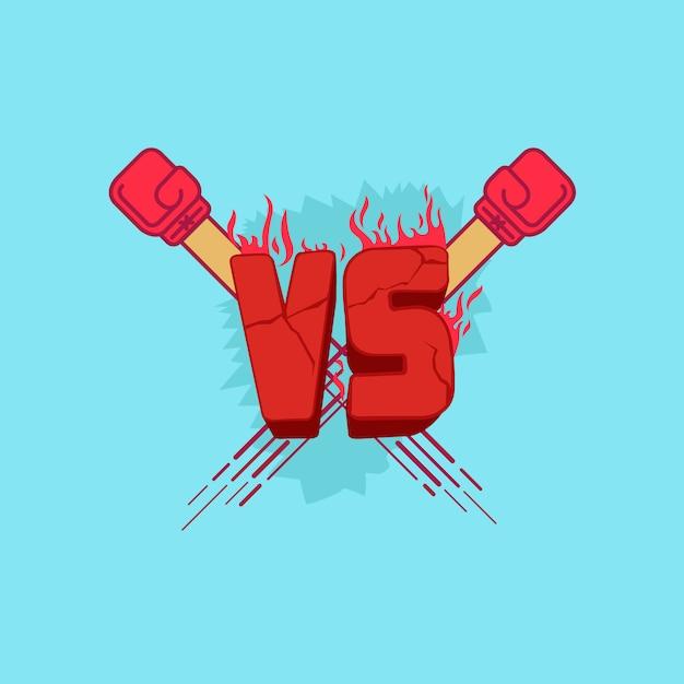 Ilustracja W Przeciwieństwie Do Symbolu Kamienia Z Czerwonymi Ciosami Ognia Premium Wektorów