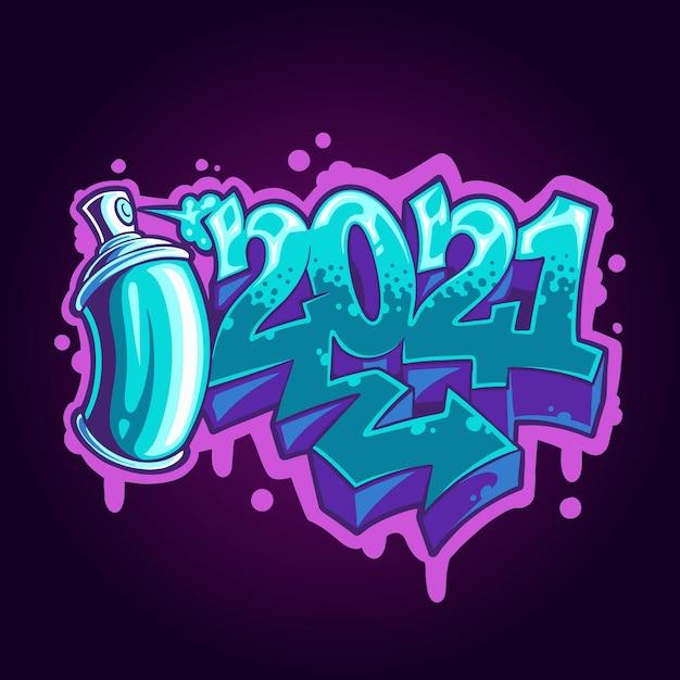 Ilustracja W Stylu Graffiti Premium Wektorów