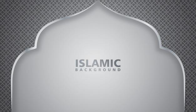 Ilustracja w tle meczetu Premium Wektorów