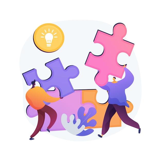 Ilustracja Wektorowa Abstrakcyjna Koncepcja Wzajemnej Pomocy. Program Wzajemnej Pomocy, Pomoc Sobie, Wsparcie Biznesu, Bankowość Mobilna, Praca Zespołowa, Grupa Ludzi, Uścisk Dłoni Abstrakcyjna Metafora. Darmowych Wektorów