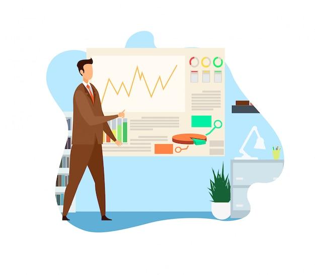 Ilustracja wektorowa analizy strategii biznesowej Premium Wektorów