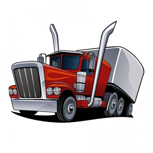Ilustracja wektorowa ciężarówki Premium Wektorów
