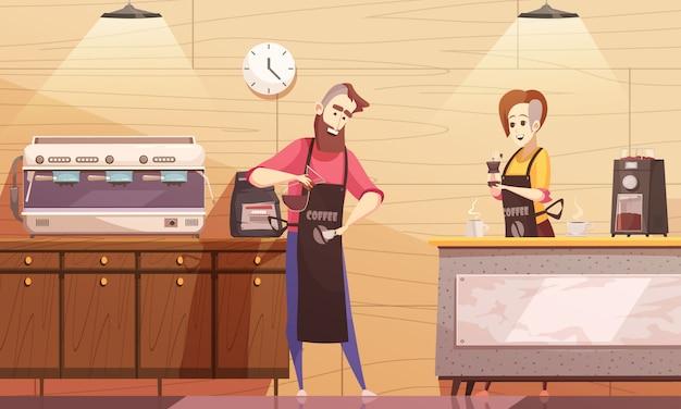 Ilustracja wektorowa coffee house Darmowych Wektorów
