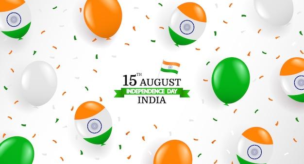 Ilustracja Wektorowa Dnia Niepodległości Indii. Premium Wektorów