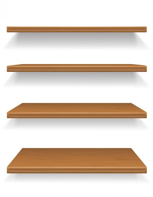 Ilustracja Wektorowa Drewniane Półki Premium Wektorów