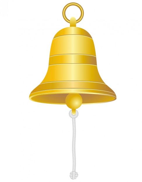 Ilustracja wektorowa dzwon statku Premium Wektorów