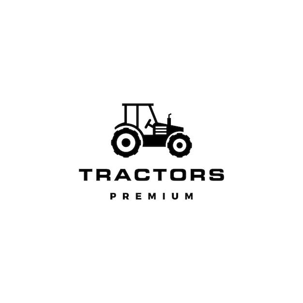 Ilustracja Wektorowa Ikona Logo Ciągnika Premium Wektorów