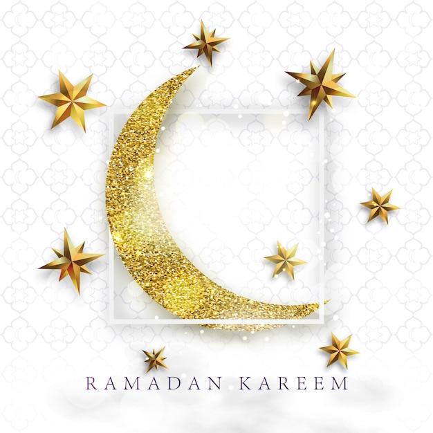 Ilustracja wektorowa kareem ramadan. Premium Wektorów