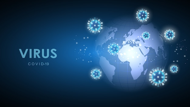 Ilustracja Wektorowa Komórek Koronawirusa Premium Wektorów