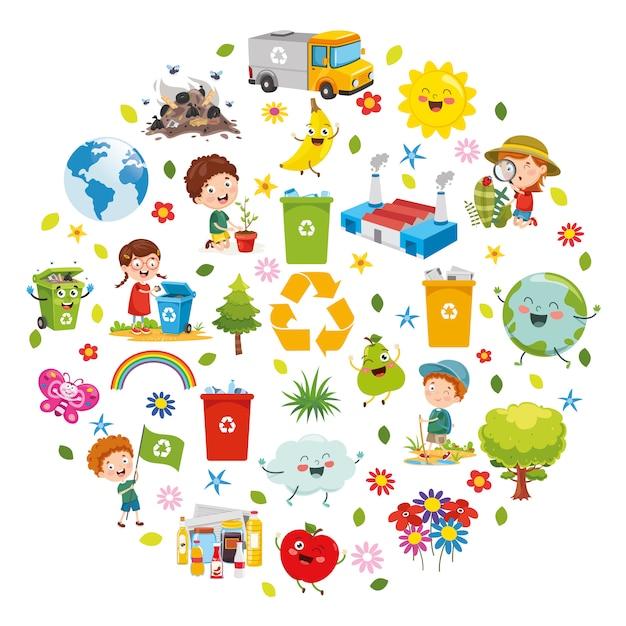 Ilustracja wektorowa koncepcji projektu środowiska Premium Wektorów