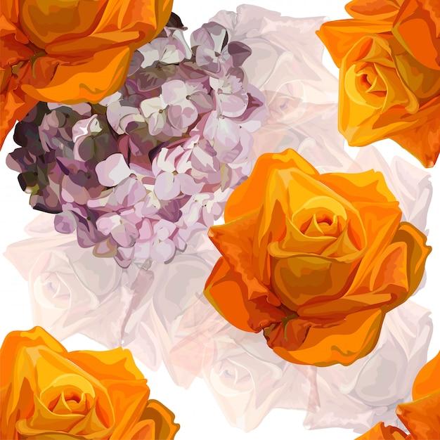 Ilustracja wektorowa kwiatowy wzór Premium Wektorów