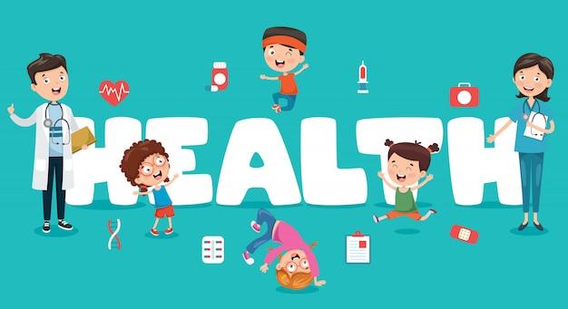 Ilustracja wektorowa medycyna i opieka zdrowotna Premium Wektorów